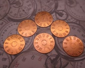 Watch Face Solid Copper 18 Gauge Steampunk Finding on Etsy Quantity Choice