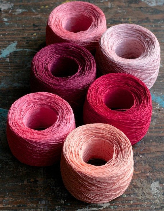 https://www.etsy.com/listing/108284931/linen-yarn-thread-six-balls-pink-red