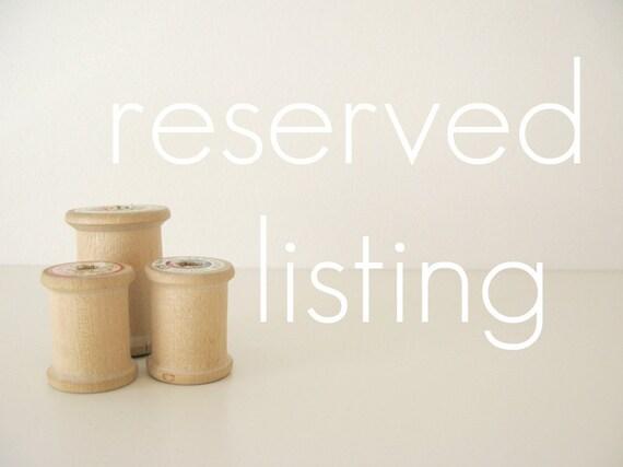 reserved custom listing for lisa mccarthy