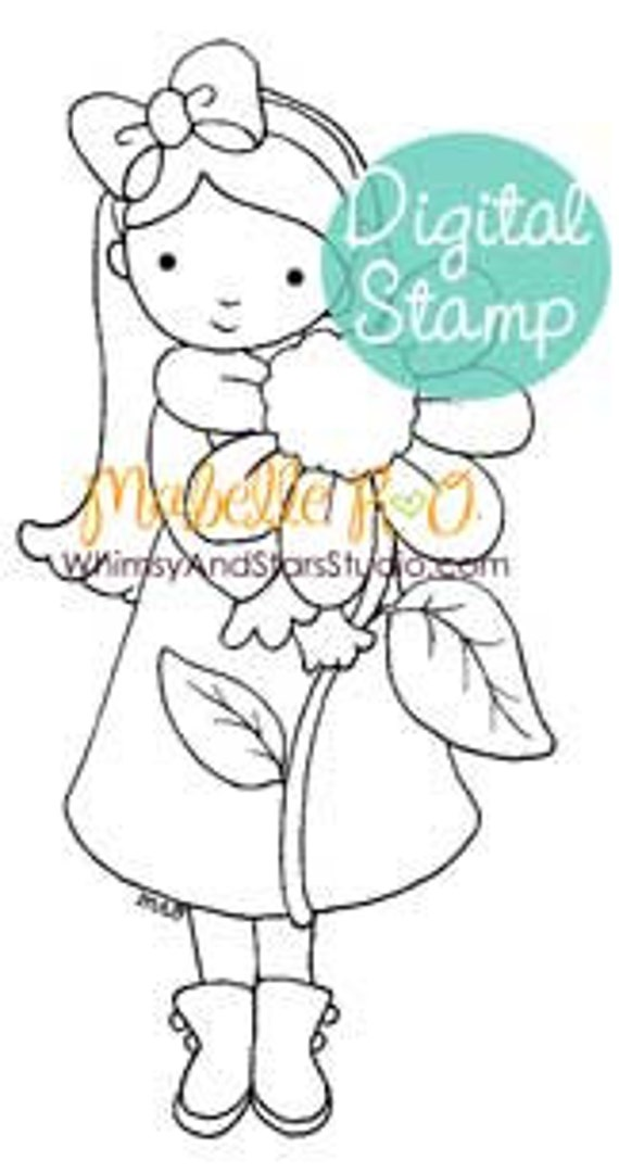 Instant Download Digi Stamp: Amelia