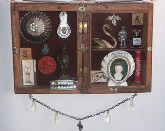 Assemblage Art - Mixed Media Vintage antique Memento Salvage Beethoven - 1006