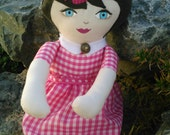 Pink Gingham Rag Doll