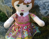 Bright Floral Rag Doll