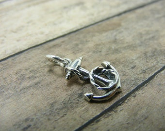 Add a sterling silver anchor