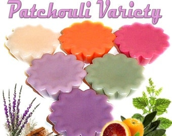 6 Patchouli Variety Tarts Candle Melts Assorted Patchouli Scents