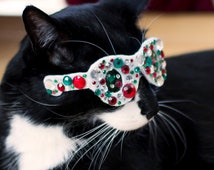 Holiday Themed Bling Glasses for Cats - Christmas