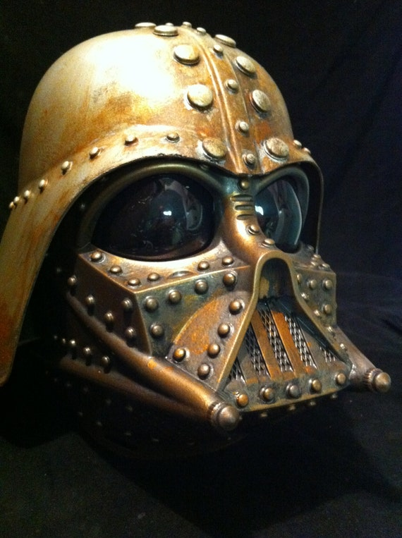 Steampunk  DARTH VADER Helmet Rusted Star wars Vader Project Life Size Cosplay