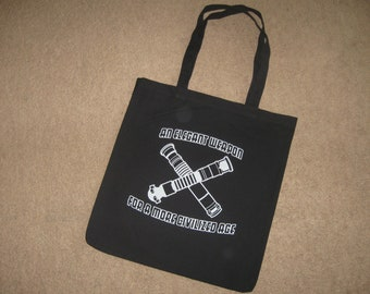 An Elegant Weapon For a More Civilized Age Tote Bag