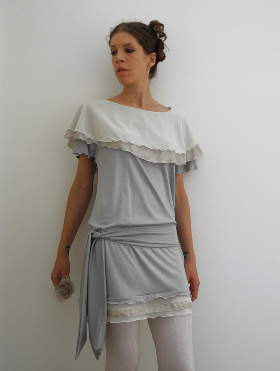 Sale 25 off gray flapper dress 1920s inspired dress for 1920s inspired wedding dresses