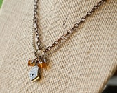 Sepia Crystal Steampunk Necklace