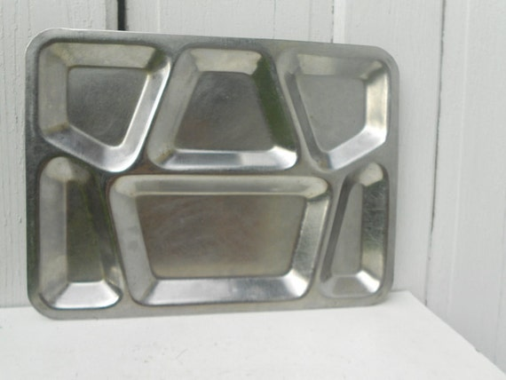 1950s Prison Made Lunch Tray Metal Kitchen Decor Mid Century
