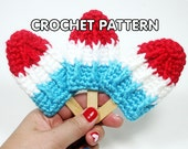 PDF Crochet Pattern - Rocket Pop Brooch/Hair Clip