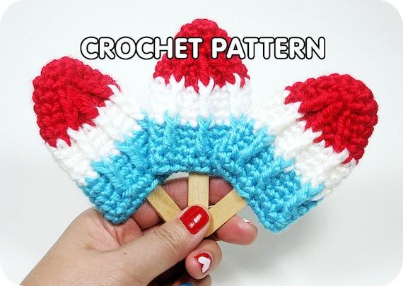 PDF Crochet Pattern - Rocket Pop Brooch/Hair Clip