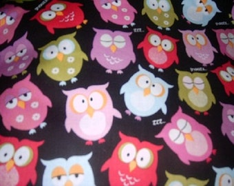 MadieBs Custom Colorful Owls Cotton Sheet Set for the IKEA Toddler Bed