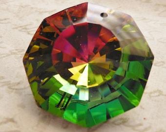 Rare Swarovski crystal pendant faceted octagon vitrail medium art 6208 28mm approx 1.2 inches