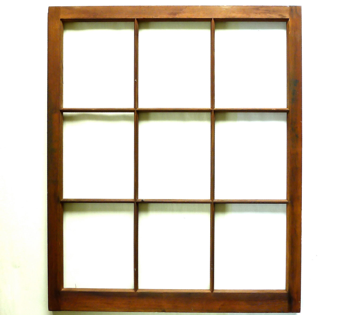 Reserved for Rahe Vintage Old Growth Fir Wood Window Pane 34