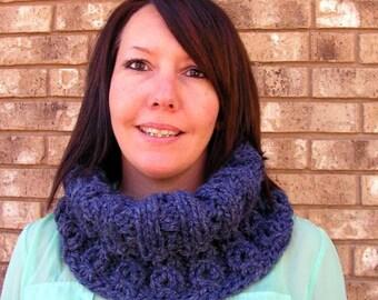 cwl001 Hand Knit Bulky Mock Cable Cowl  Acrylic  Yarn