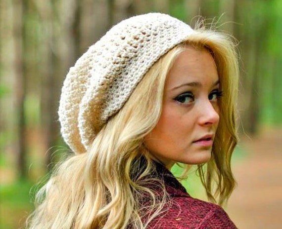 Hand Crocheted Hat Womens Hat - The Weekender Slouchy Hat in Roman Goddess - Winter Fashion Winter Accessories