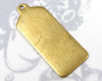 Brass Engraving Tag Charms (6X) (M586)