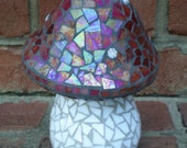 Stained Glass Mosaic Mushroom Garden Art