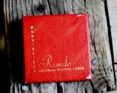 Vintage Waddington's Rondo Circular Playing Cards