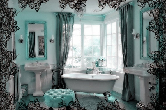 Gallery For Aqua And Brown Bathroom Decor