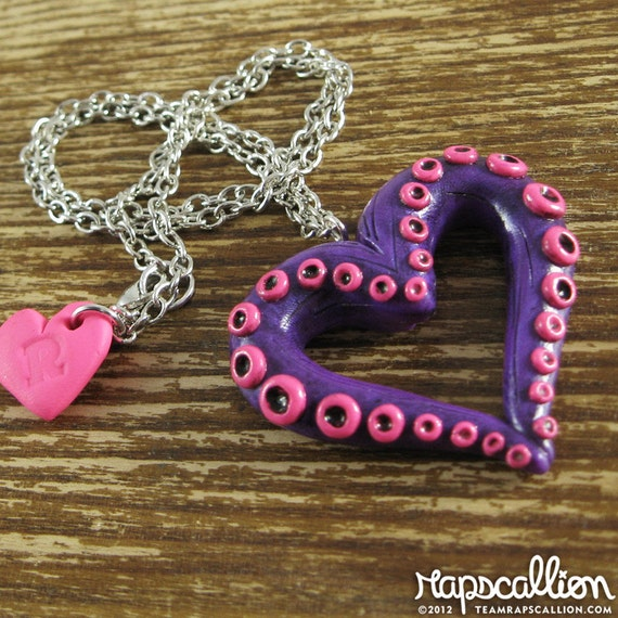 Tentacle Heart Necklace