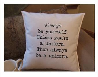 Unicorn decorative throw pillow cover