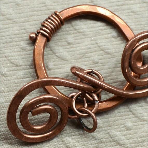 Handmade Copper Toggle Clasp