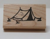 Camping Tent rubber stamp