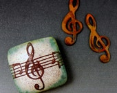Treble Clef Bead and Copper Charms