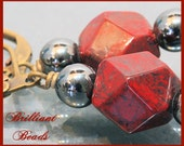 Faceted Red Jasper & Hematite Earrings SRAJD