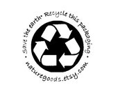 Save the Earth Recycle this Packaging custom Rubber Stamp