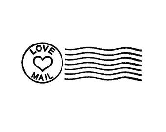 Love mail Postal cancellation marks valentines day rubber stamp Love Letters