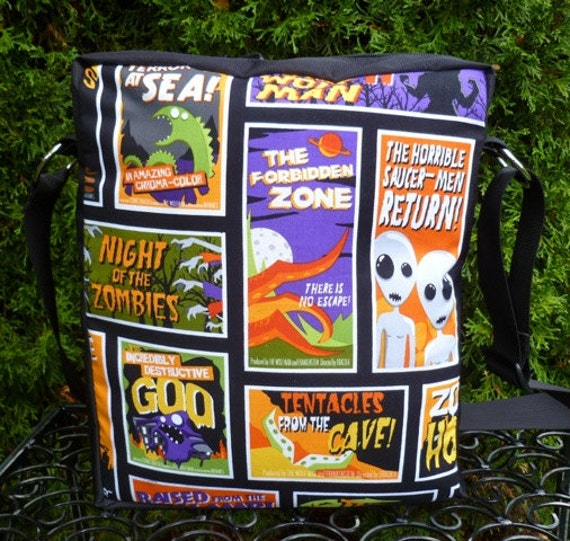Movie Monsters shoulder bag , cross body bag, Fright Night Posters, The Fox