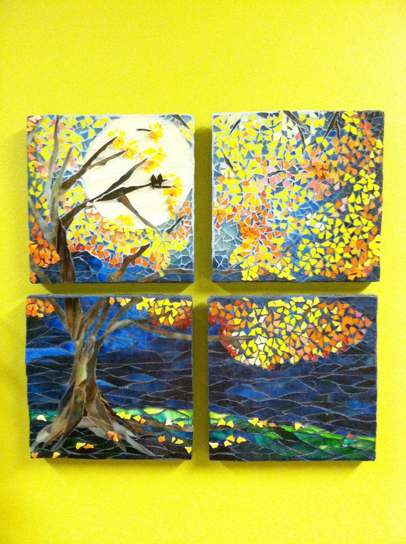 Mosaic Tree Wall Decor