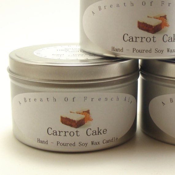 Carrot Cake Candle Soy Wax  Food Bakery Scent Vegan Christmas in July