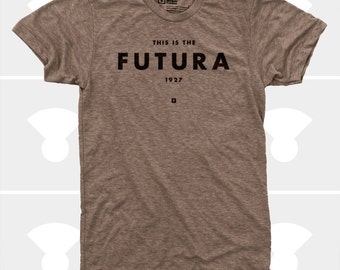 Men's T-Shirt Futura (Men) Typography T-Shirt, S,M,L,XL,XXL, American Apparel, Typography Shirt for Men (4 Colors)