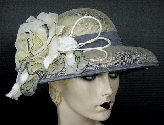 Gray Sinamay Summer Hat