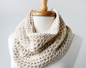 Fall Cowl Scarf. Eco Friendly Scarf. Organic Cotton Chunky Knit Neckwarmer- Summer, Spring, Fall, Winter Fashion - TickledPinkKnits
