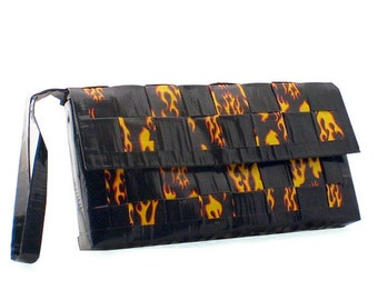 Duct Tape Clutch - Hot Rod Flames