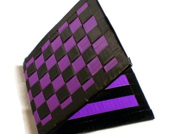 Duct Tape Wallet - Purple & Black