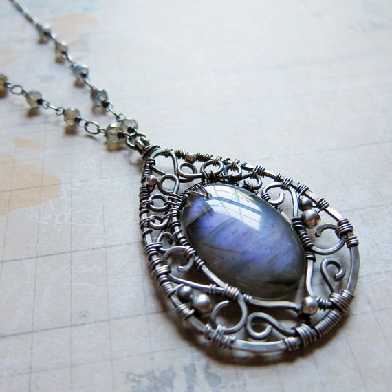 Ceridwen - Magical Purple Labradorite Necklace