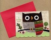 Holiday Owl Notecard Set