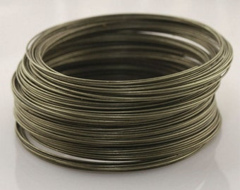 50 Circles Antique Bronze Stainless Steel Memory Wire For Bracelet Making 5.5cm 0.6mm thickness-8847
