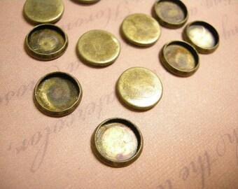 40pc antique bronze 12mm cabochon setting-5875x2bags