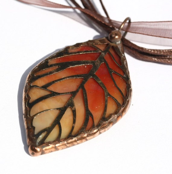 Stained Glass Leaf Pendant (SGL-P)