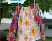 Instant Download Marci Peasant Top or Dress PDF DIY Sewing Pattern Tutorial 1-6/7