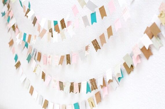 Mia Bella 15' Wedding Paper GARLAND, Wedding Decoration, Bunting, Banner, Photography Prop, Home Decor, Birthday, Nursery, Baby Shower