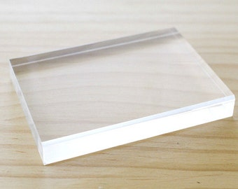 Clear acrylic block for stamping